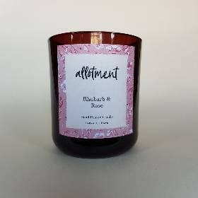 Allotment Candles   Rhubarb & Rose