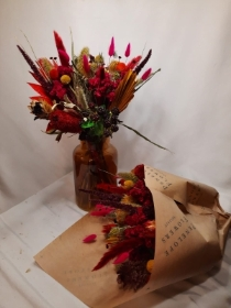 Dried Flower Bouquet Brights