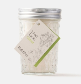 Field Day Clover Jam Jar Soy Candle
