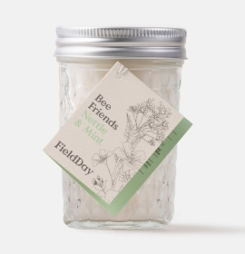 Field Day Nettle & Mint Jam Jar Soy Candle
