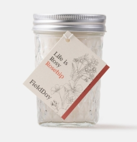 Field Day Rosehip Jam Jar Soy Candle