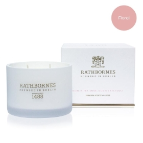 Rathbornes Dublin Tea Rose, Oud & Patchouli Classic Candle