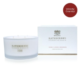 Rathnornes Cedar, Cloves & Ambergris Luxury Candle